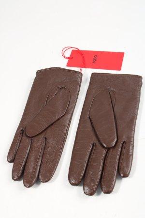 Hugo Boss Gants en cuir brun style d'affaires