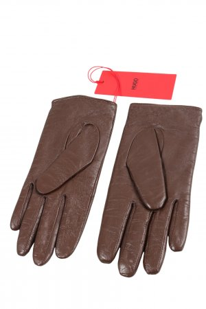 Hugo Boss Rękawiczki skórzane brązowy Skóra