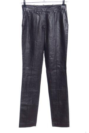 Hugo Boss Pantalón de cuero negro look casual