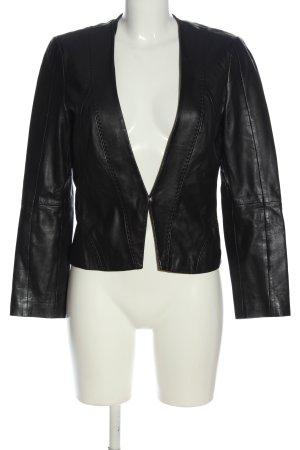 Hugo Boss Skórzana kurtka czarny W stylu casual