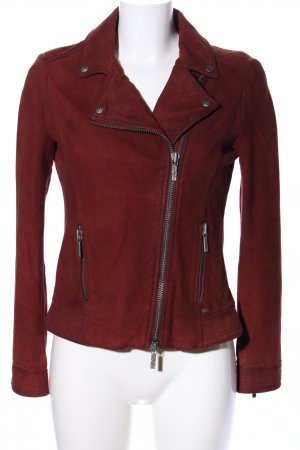 Hugo Boss Lederjacke rot Casual-Look