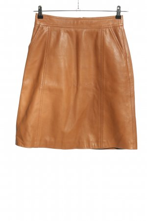 Hugo Boss Leather Skirt brown casual look
