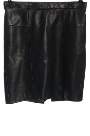 Hugo Boss Jupe en cuir noir style d'affaires