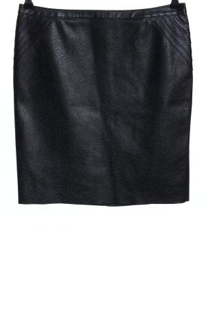 Hugo Boss Jupe en cuir noir style décontracté