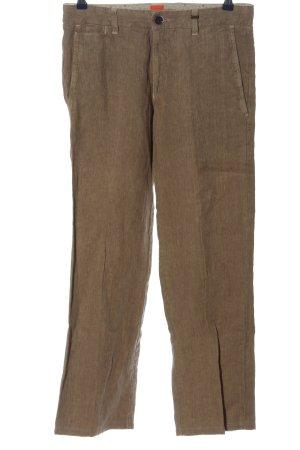 Hugo Boss Linnen broek bruin casual uitstraling