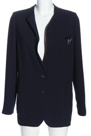 Hugo Boss Long-Blazer blau Casual-Look