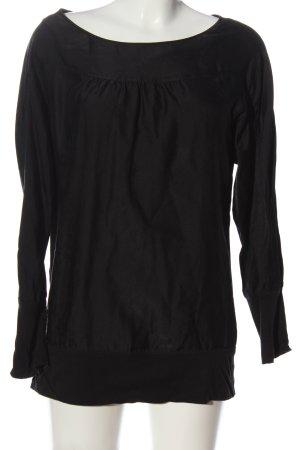 Hugo Boss Long-Bluse schwarz Casual-Look
