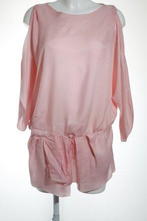Hugo Boss Long-Bluse rosa Transparenz-Optik