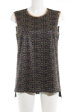 Hugo Boss Long-Bluse schwarz-creme Animalmuster Elegant