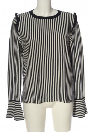 Hugo Boss Longsleeve black-white striped pattern casual look