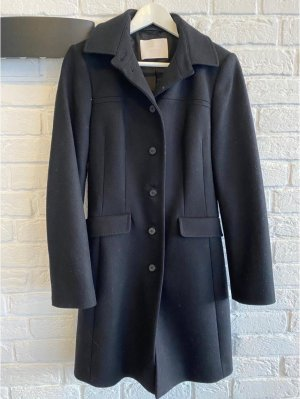 Hugo Boss Abrigo de lana negro