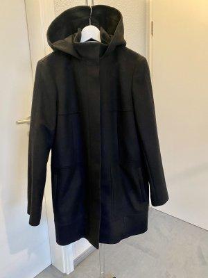 Hugo Boss Wollen jas zwart-lichtgrijs