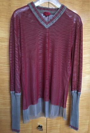 Hugo Boss V-Neck Shirt ocher-dark red