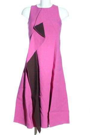 Hugo Boss Midikleid pink-braun Casual-Look