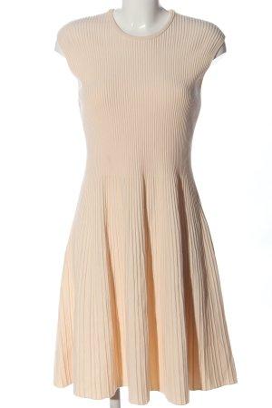 Hugo Boss Robe mi-longue crème motif rayé style décontracté