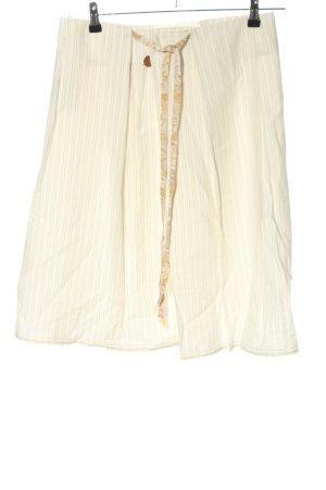 Hugo Boss Spódnica midi w kolorze białej wełny-brązowy Wzór w paski