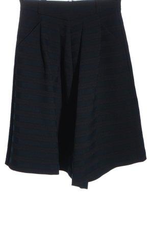 Hugo Boss Spódnica midi niebieski-czarny Wzór w paski Elegancki