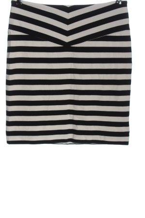 Hugo Boss Minirock schwarz-weiß Streifenmuster Casual-Look