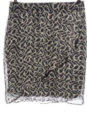 Hugo Boss Mini-jupe noir-blanc motif abstrait style décontracté