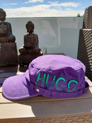 Hugo Boss Visor Cap dark violet-green cotton