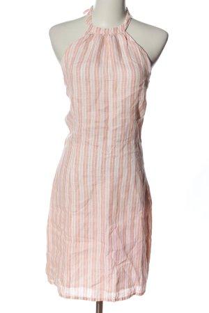Hugo Boss Neckholderkleid pink-weiß Streifenmuster Casual-Look