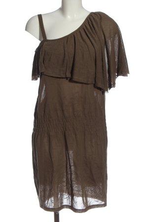 Hugo Boss Vestido de un hombro marrón look casual