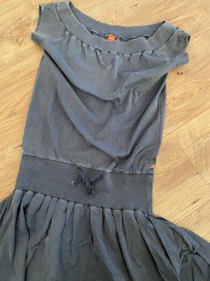 Hugo Boss orange Kleid cá 36 blau Denim Vintage Used Shirt