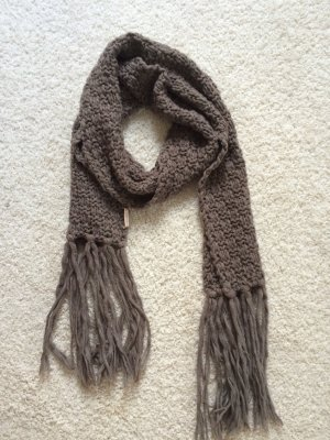 Boss Orange Knitted Scarf grey brown-beige wool