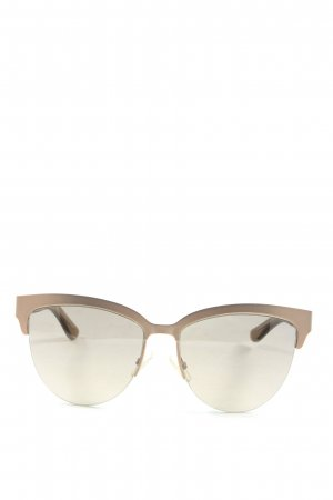 Hugo Boss ovale Sonnenbrille goldfarben Casual-Look