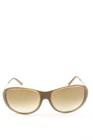 Hugo Boss ovale Sonnenbrille braun Casual-Look