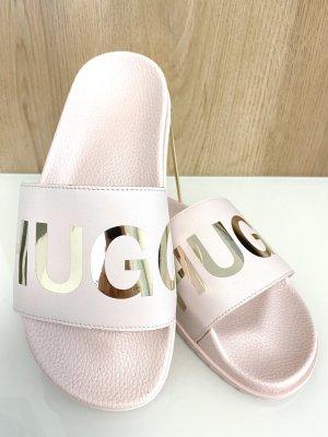 Hugo Boss Sandalias de playa rosa-color oro