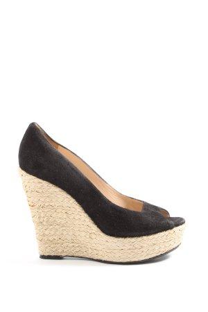Hugo Boss Plateau-Sandalen schwarz Elegant