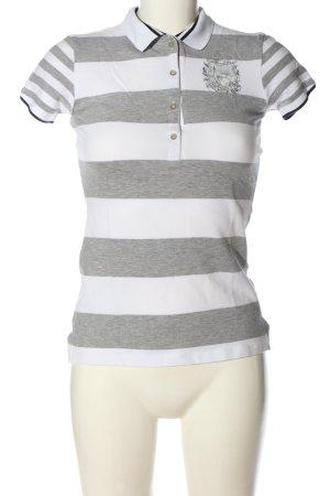 Hugo Boss Polo-Shirt hellgrau-weiß Allover-Druck Casual-Look