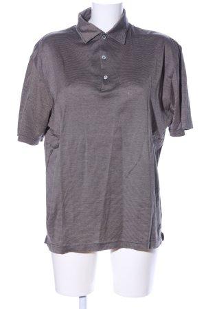 Hugo Boss Polo-Shirt braun Streifenmuster Casual-Look