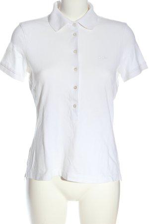 Hugo Boss Polo shirt wit casual uitstraling