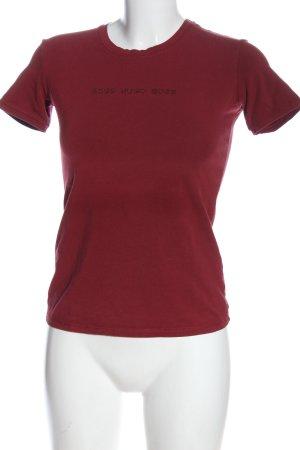 Hugo Boss Print-Shirt rot Casual-Look