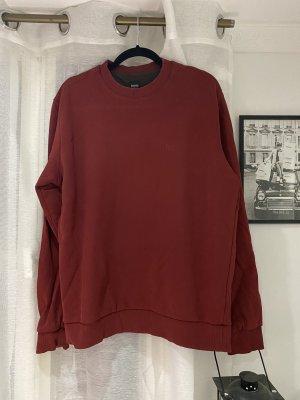 BOSS HUGO BOSS Sweter oversize bordo