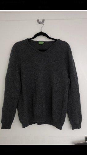 Hugo Boss Sweter oversize szary-ciemnoszary