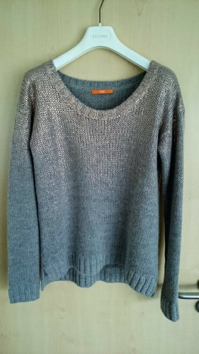 Hugo Boss Coarse Knitted Sweater rose-gold-coloured-light grey alpaca wool