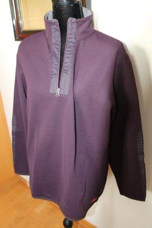 Hugo Boss Jersey con cuello de pico gris-rojo amarronado Poliéster