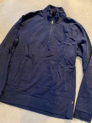 Hugo BOSS Pullover, Größe XL, Wolle, blau