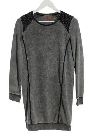 Hugo Boss Robe pull gris clair-noir moucheté style décontracté
