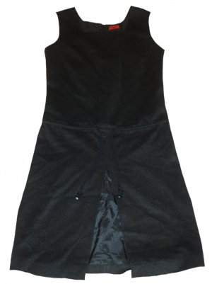 Hugo Boss Woolen Dress dark grey wool