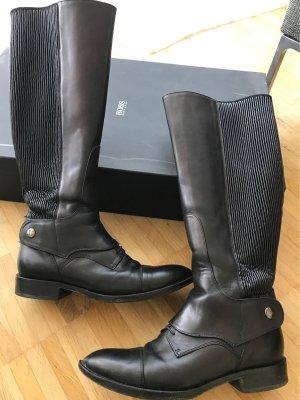 Hugo Boss Riding Boots black leather