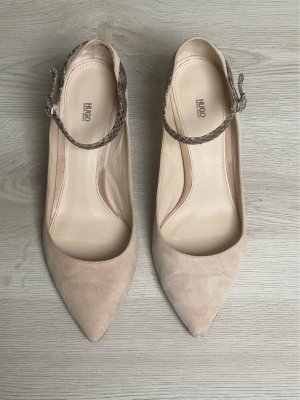 Hugo Boss Strapped pumps nude-black brown leather
