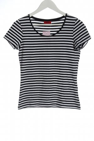 Hugo Boss Stripe Shirt black-white striped pattern casual look