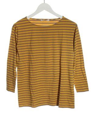 Hugo Boss T-shirt rayé orange clair-brun motif rayé style décontracté