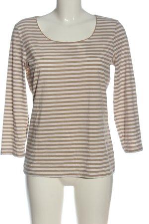 Hugo Boss T-shirt rayé brun-blanc motif rayé style décontracté