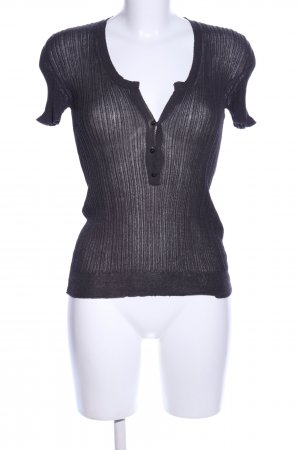 Hugo Boss Rippshirt schwarz schlichter Stil