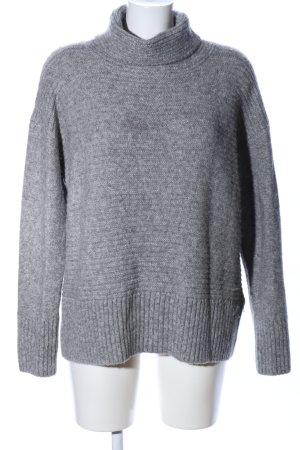 Hugo Boss Turtleneck Sweater light grey flecked casual look